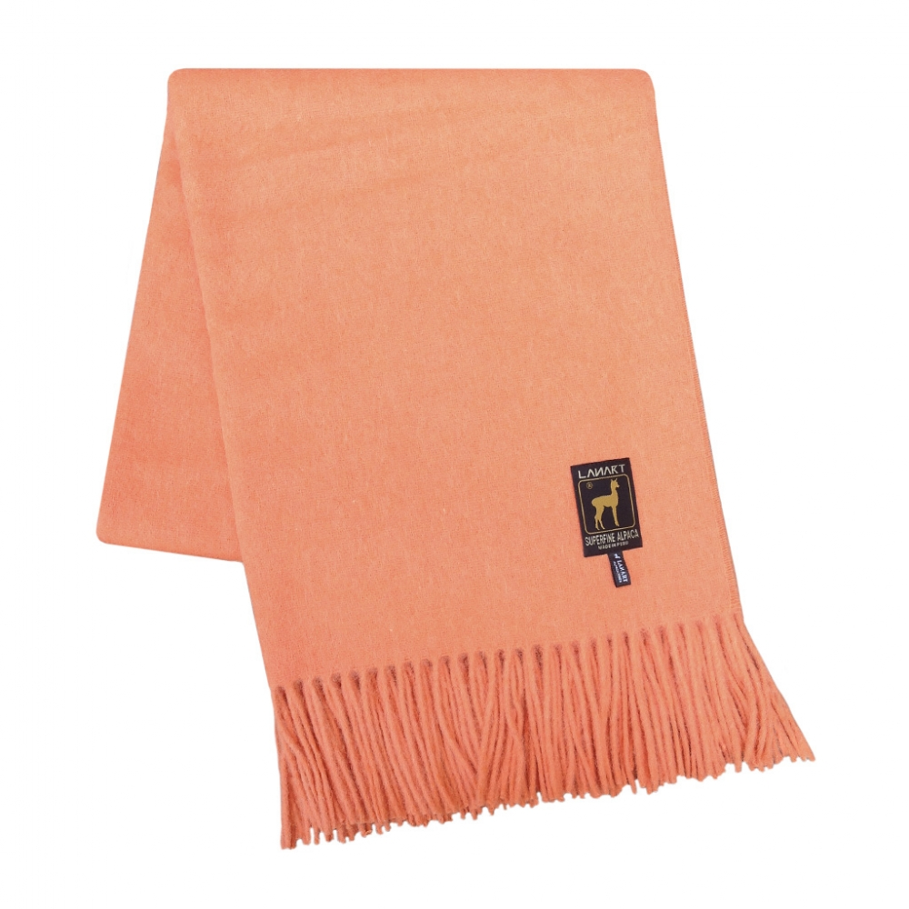 Solid Colored Alpaca Throw