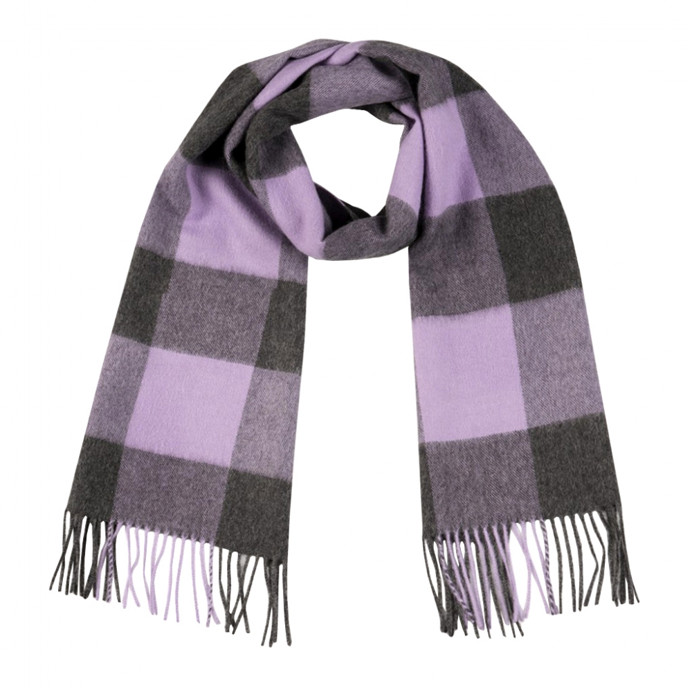 Giant Check Baby Alpaca Brushed Scarf