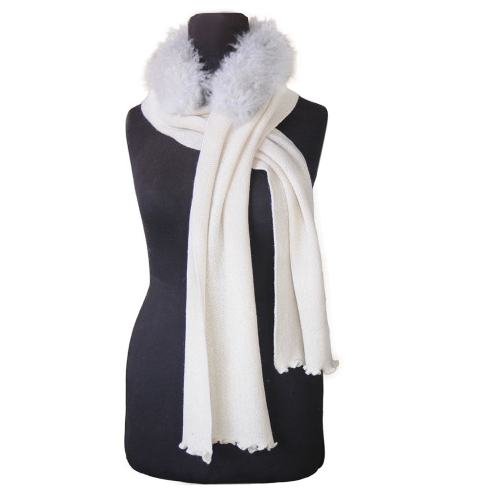 Glamour Baby Alpaca Links and Fur Scarf