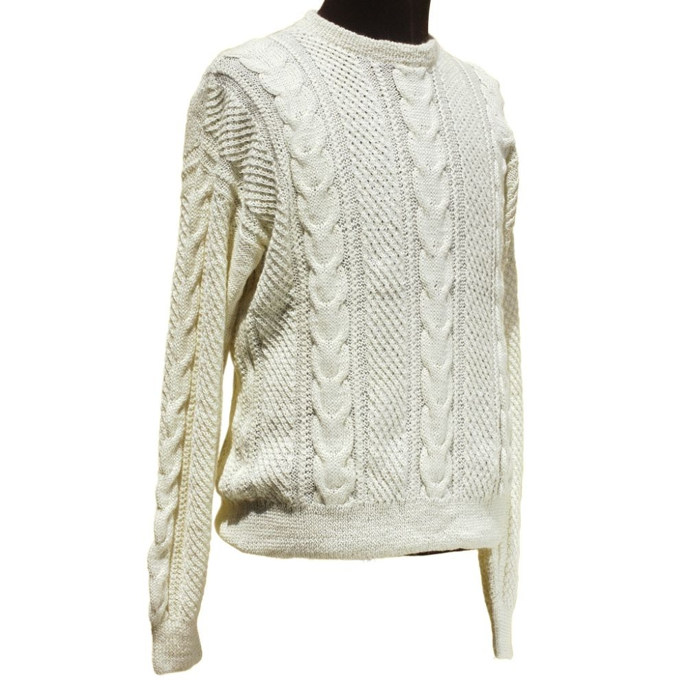 Fisherman Hand Knit Alpaca Sweater
