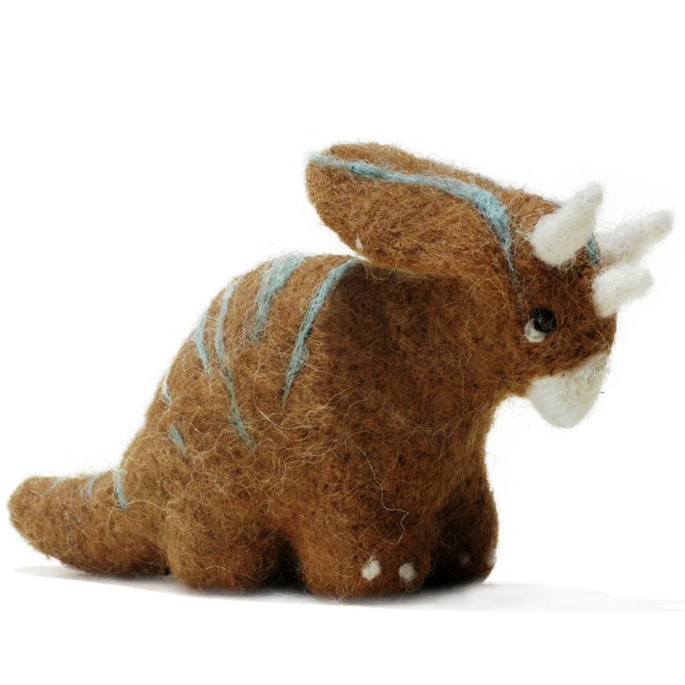 Triceratops Dinosaur: Felted Alpaca