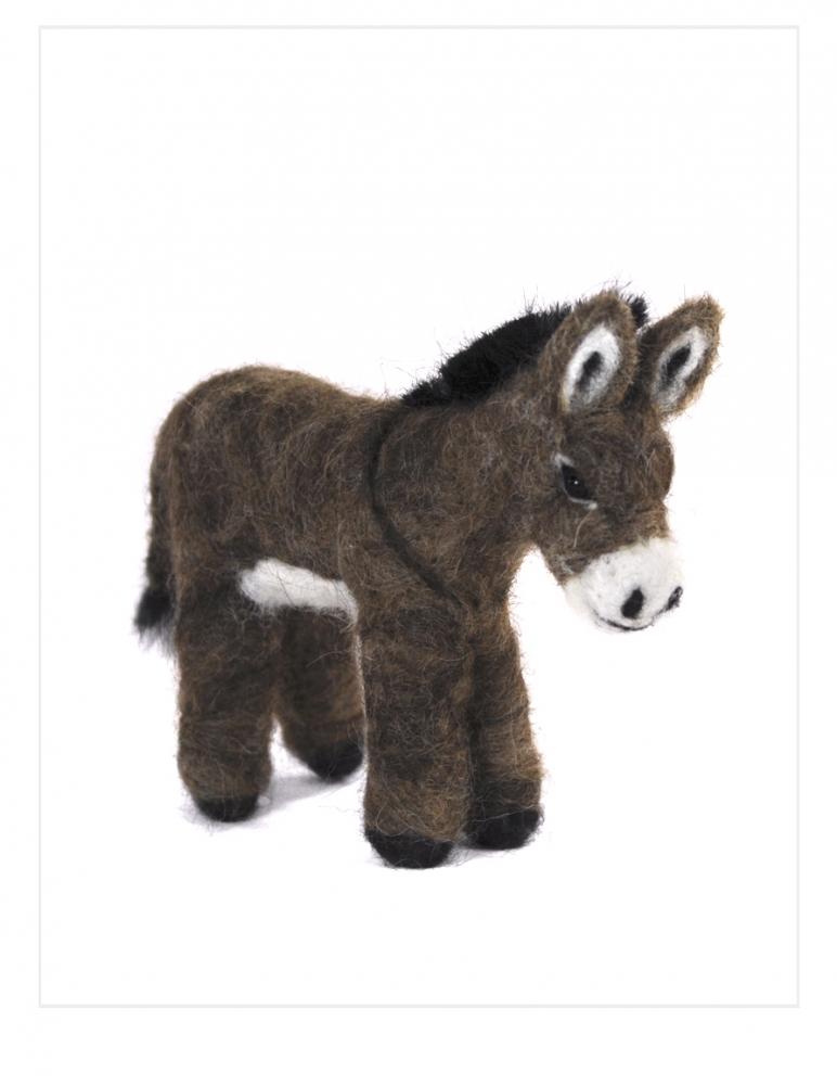 Donkey: Felted Alpaca Scultpure