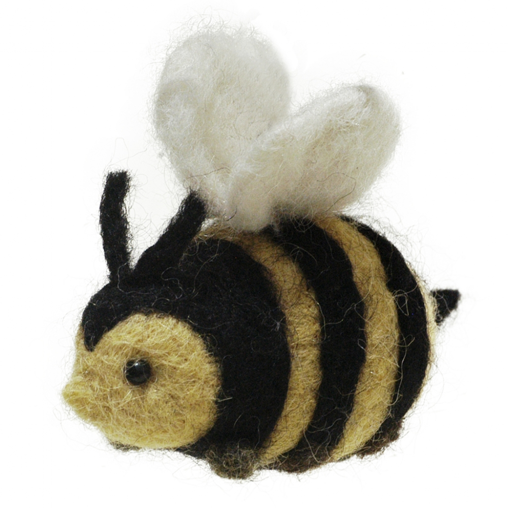 Botero Bee: Felted Alpaca Sculpture