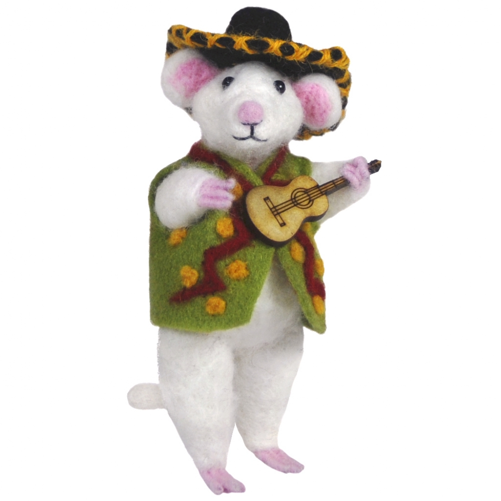 Mouse Guitar : Felted WoolPaca