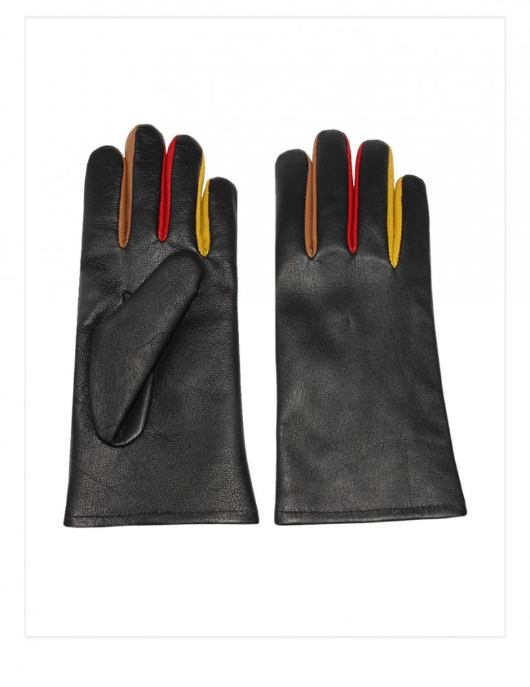 Fancy Alpaca Leather Gloves