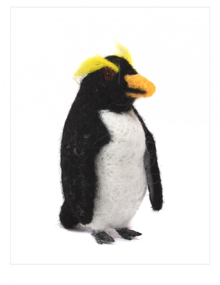 Rockhopper Penguin: Felted Alpaca