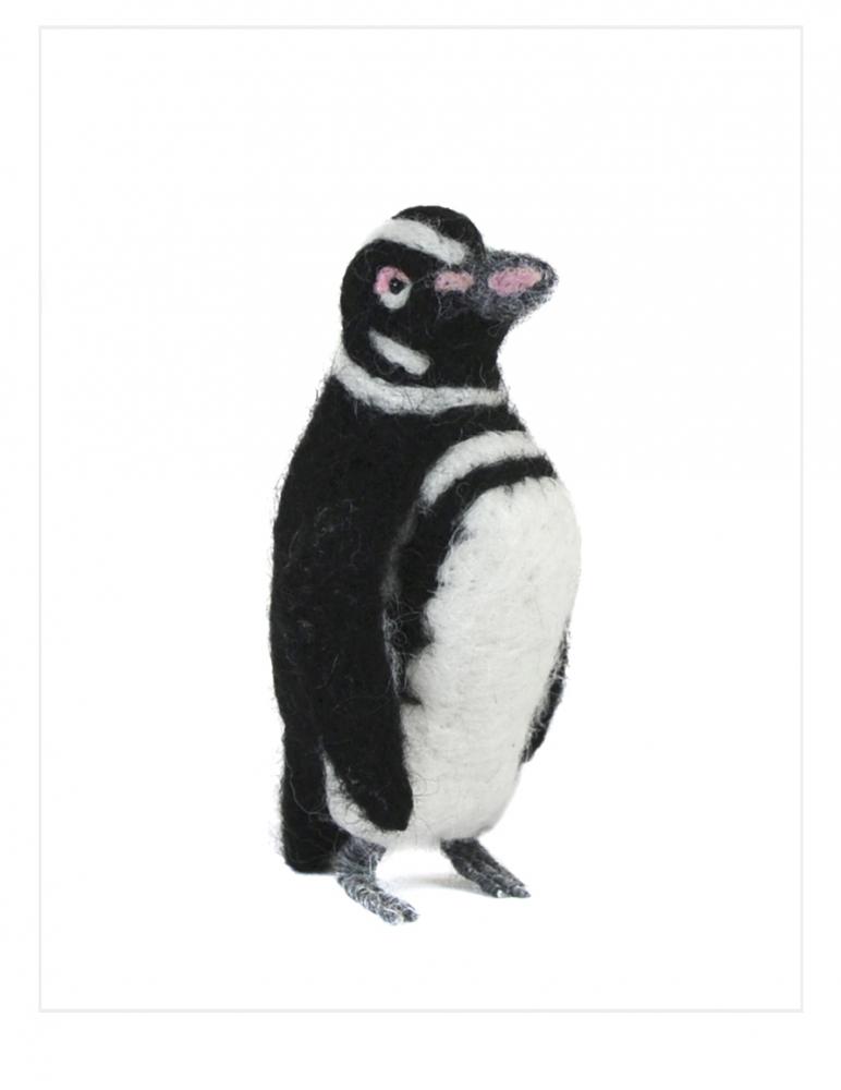 Magellanic Penguin: Felted Alpaca