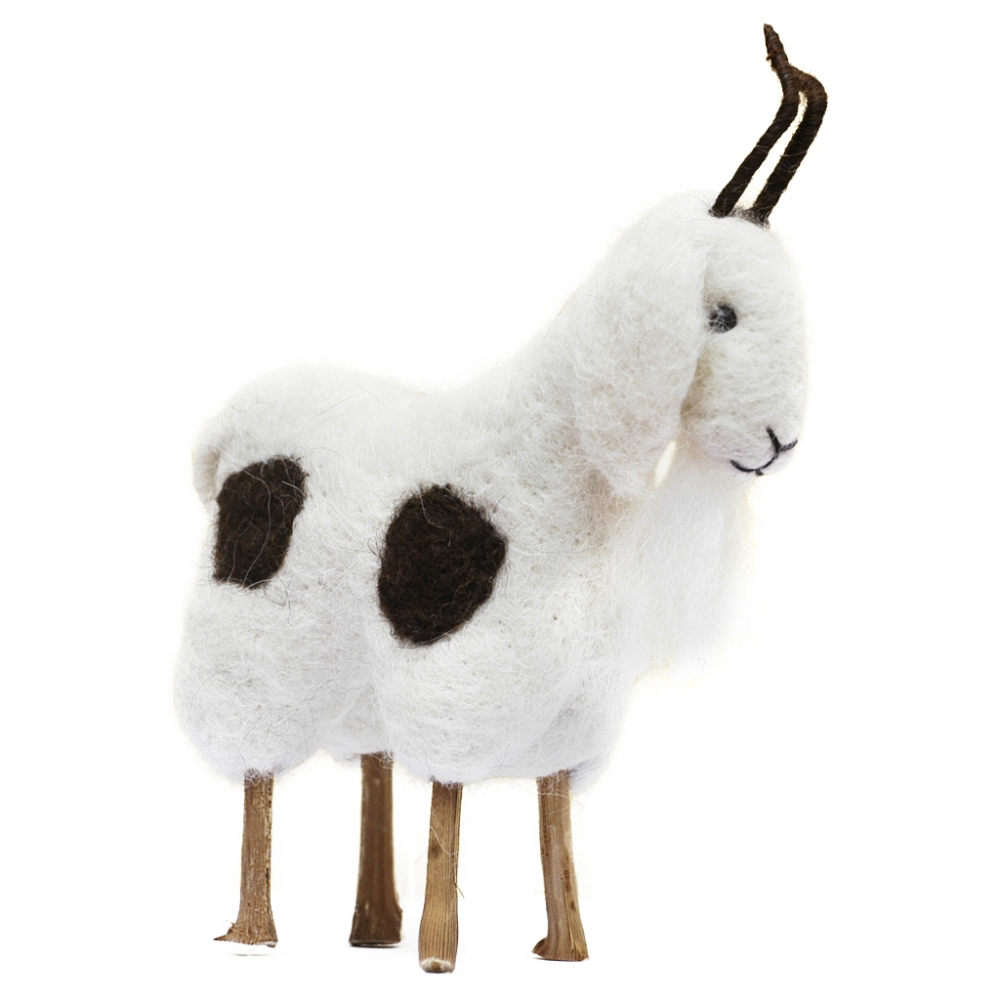 Billy Goat: Alpaca Fiber Sculpture