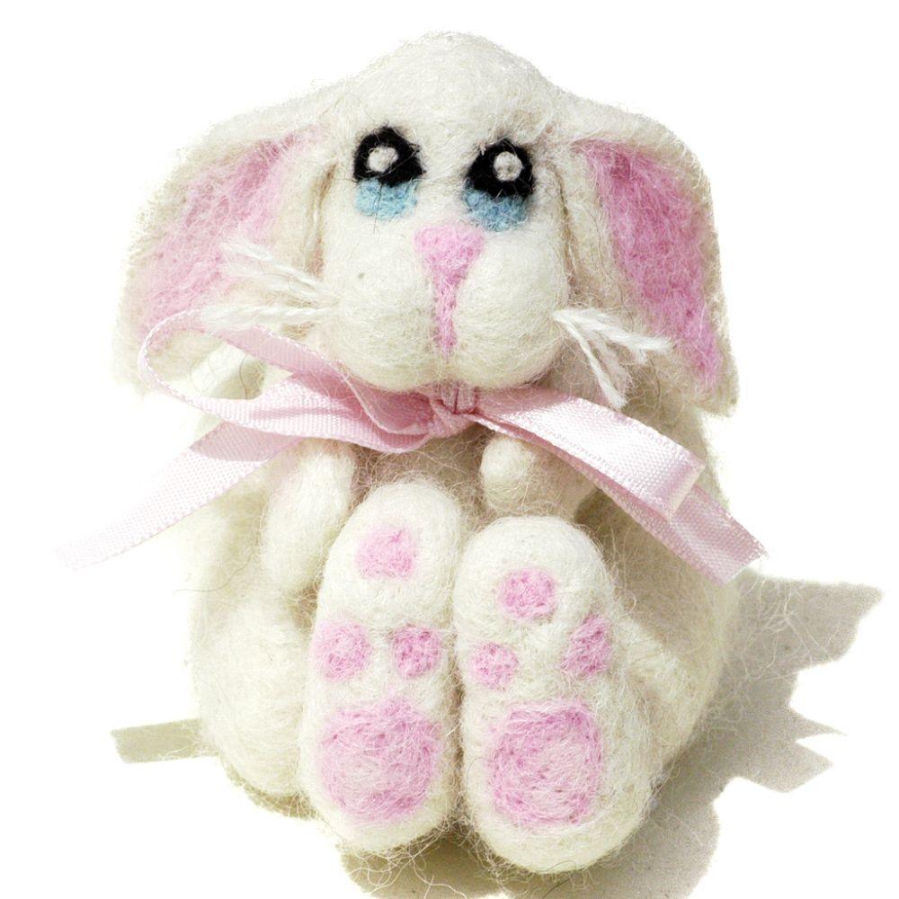 Esperanza Bunny: Alpaca Fiber Sculpture