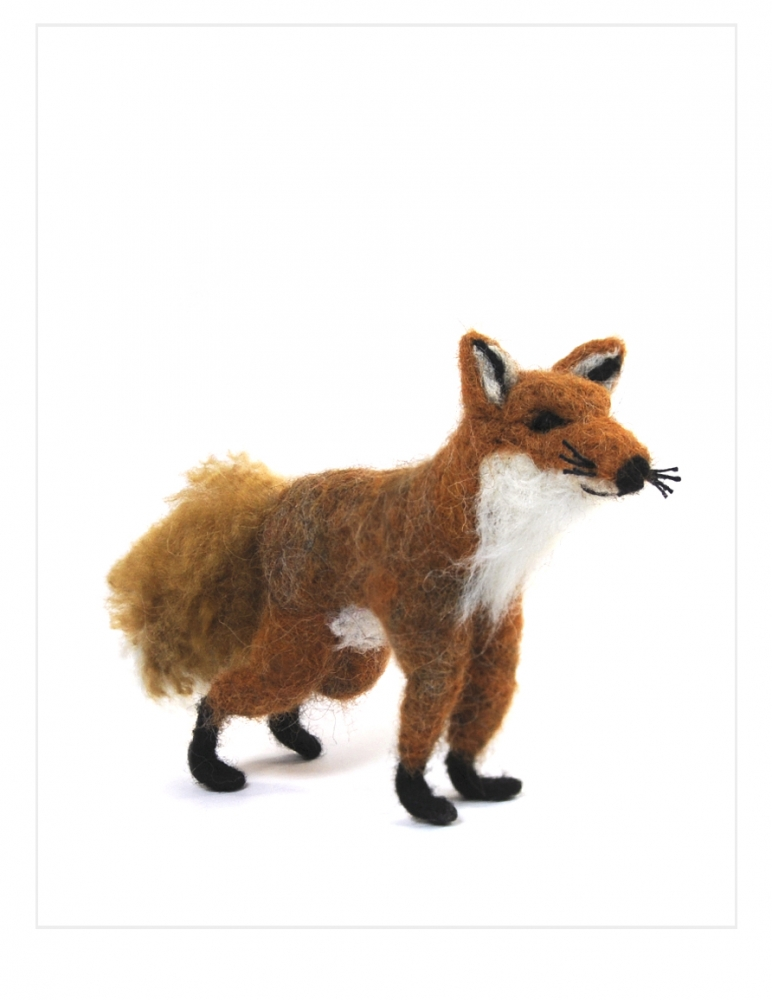 Red Fox: Felted Alpaca