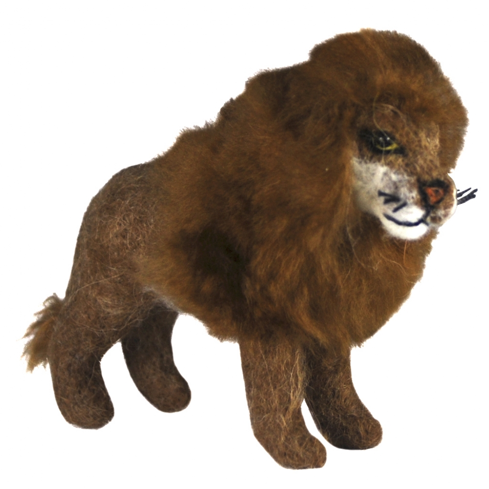 Lion Standing: Felted Alpaca