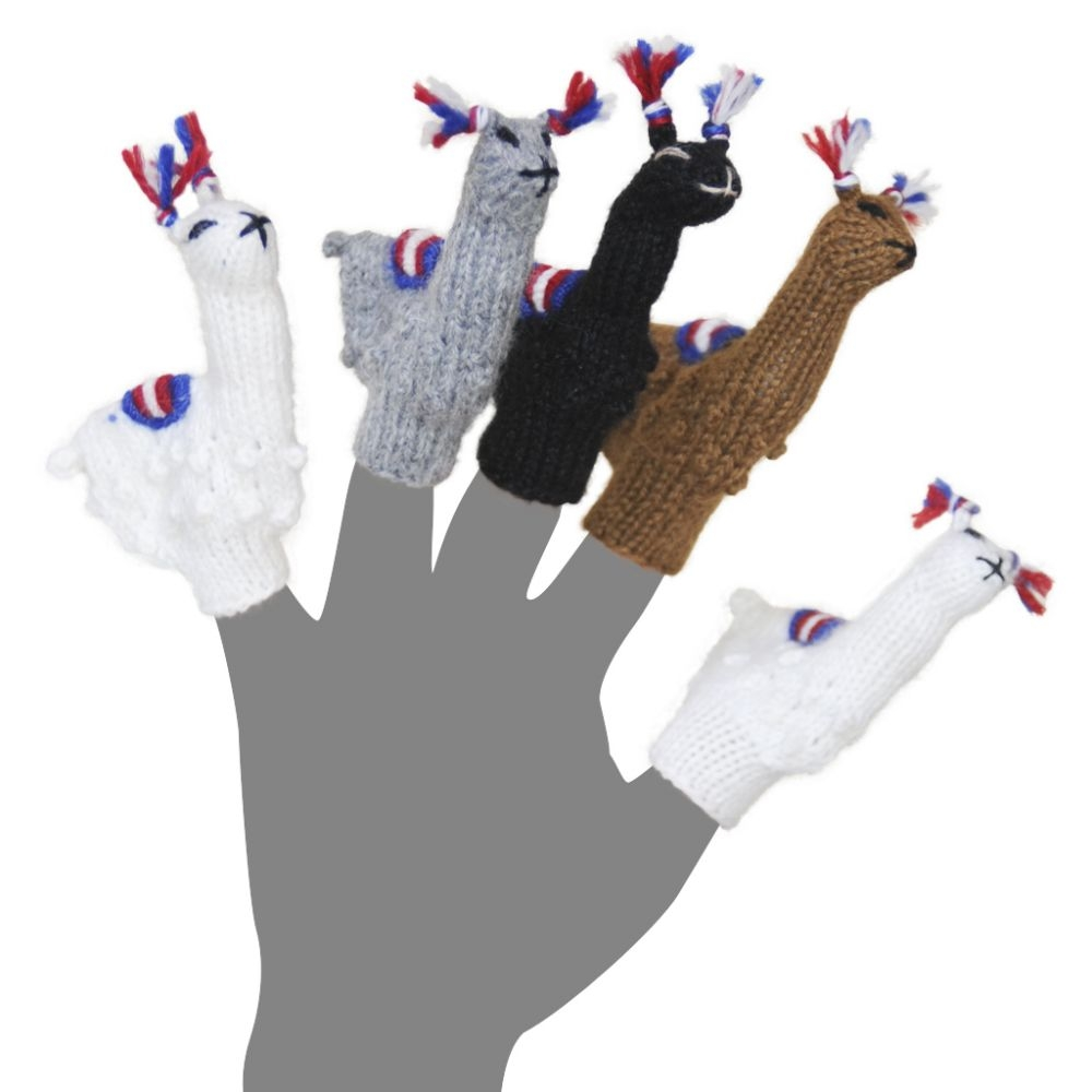Hand Knit Alpaca Finger Puppets