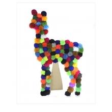 Wooden Alpaca Art PomPom