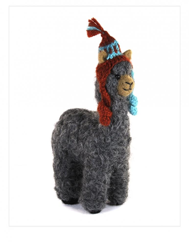 "Felted Mama Alpaca 6.5"""