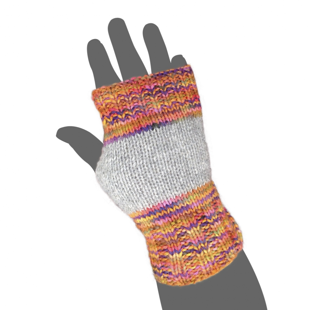 Cranky Fingerless Knit Alpaca Gloves