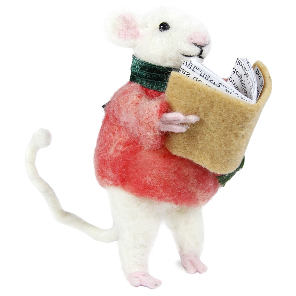 Mouse Bookworm: Felted Woolpaca
