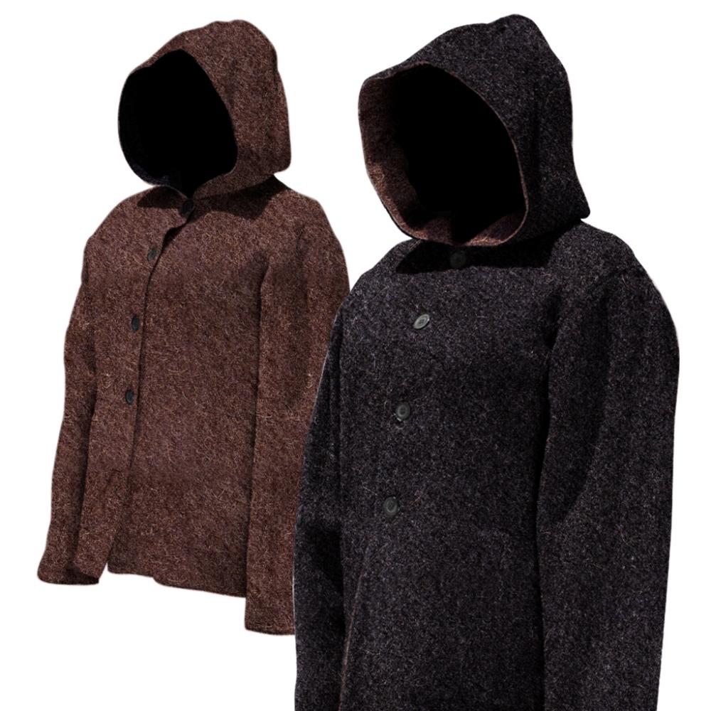 Hooded Reversible Alpaca Coat