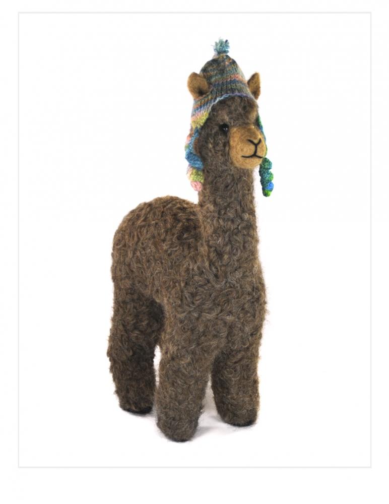 "Felted Herdsire Alpaca 12"""