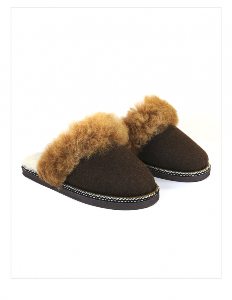 BonaVida Fur Clog Slipper