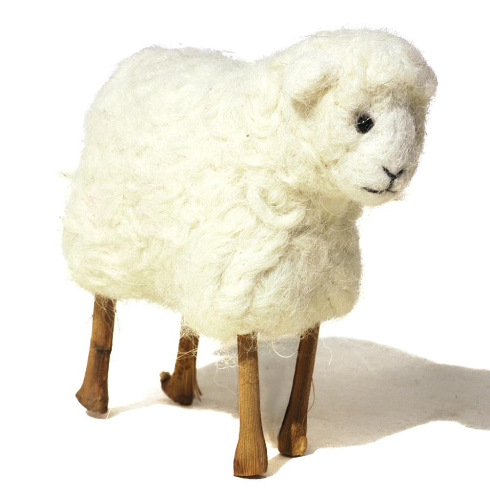 Stick Legs Sheep: Felted Alpaca